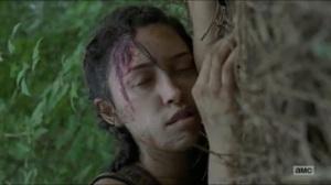 Stradivarius- Rosita passes out- The Walking Dead, AMC