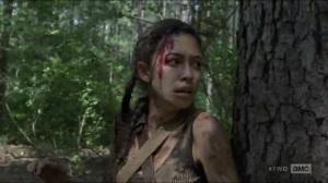Stradivarius- Rosita running through the woods- The Walking Dead, AMC