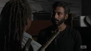 Stradivarius- Siddiq informs Michonne that Maggie is no longer at the Hilltop- The Walking Dead, AMC