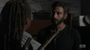 Stradivarius- Siddiq informs Michonne that Maggie is no longer at the Hilltop- The Walking Dead, AMC