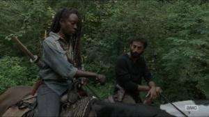 Stradivarius- Siddiq tells Michonne that Maggie is with Georgia- The Walking Dead, AMC