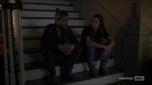 Stradivarius- Tara and Jesus talk about Maggie- The Walking Dead, AMC