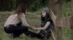 the dreaM- Young Lorna, played by Susanna Skaggs, talks with Aunt Dane- The Gifted, Fox, X-Men
