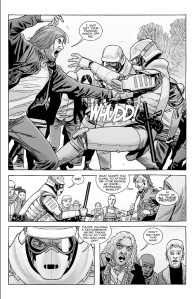 The Walking Dead #185- Dwight antagonizes the Commonwealth guards