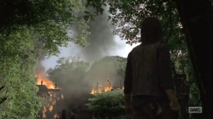 What Comes After- Daryl sees the walkers fall into the water- The Walking Dead, AMC