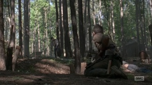 What Comes After- Injured Rick at the camp site- AMC, The Walking Dead