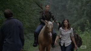 What Comes After- Maggie and Dianne spot a walker- The Walking Dead, AMC