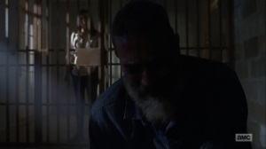 What Comes After- Maggie puts Negan back in his cell- The Walking Dead, AMC