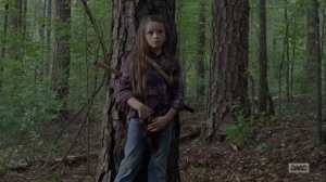 What Comes After- Older Judith rescues newcomers- The Walking Dead, AMC