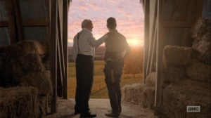 What Comes After- Rick and Hershel stare at the sun- The Walking Dead, AMC