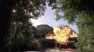 What Comes After- Rick blows up the bridge- The Walking Dead, AMC