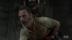 What Comes After- Rick flees the cabin- AMC, The Walking Dead