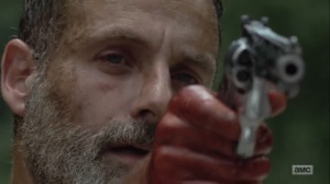 What Comes After- Rick found them as he prepares to shoot the dynamite- The Walking Dead, AMC