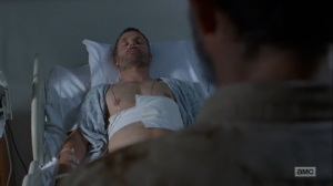 What Comes After- Rick sees himself in the hospital- The Walking Dead, AMC
