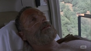 What Comes After- Rick wakes up in the helicopter with Jadis at his side- The Walking Dead, AMC