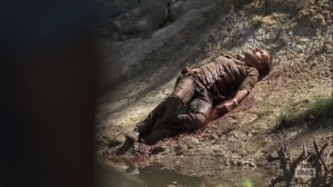 What Comes After- Rick washes up on shore- The Walking Dead, AMC