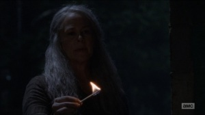 Who Are You Now- Carol about to light the Saviors on fire- The Walking Dead, AMC