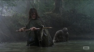 Who Are You Now- Daryl in the river- The Walking Dead, AMC