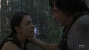 Who Are You Now- Eugene about to make a confession to Rosita- The Walking Dead, AMC
