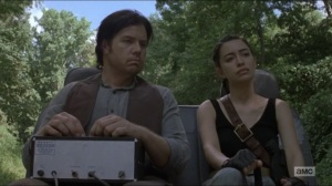 Who Are You Now- Eugene and Rosita discuss Gabriel- The Walking Dead, AMC