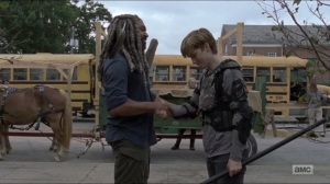 Who Are You Now- Henry bids Ezekiel farewell- The Walking Dead, AMC
