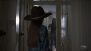 Who Are You Now- Judith overhears Michonne talking to herself- The Walking Dead, AMC