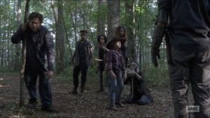 Who Are You Now- Judith with newcomers- The Walking Dead, AMC