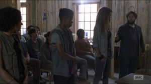 Who Are You Now- Luke talks about Magna's group- The Walking Dead, AMC