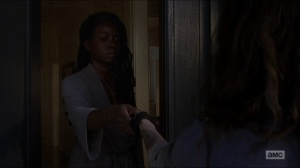 Who Are You Now- Magna and Michonne talk- The Walking Dead, AMC