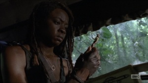 Who Are You Now- Michonne finds a sheriff toy- The Walking Dead, AMC