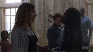 Who Are You Now- Michonne reveals Magna's prison tattoo- The Walking Dead, AMC