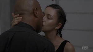 Who Are You Now- Rosita and Gabriel kiss- The Walking Dead, AMC