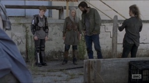 Who Are You Now- Saviors rob Carol and Henry of their supplies- The Walking Dead, AMC