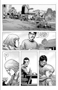 The Walking Dead #186- Carl watches as Josh talks with Sophia