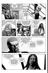 The Walking Dead #186- Michonne speaks with Rick and Dwight