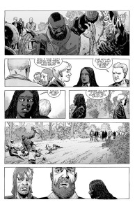 The Walking Dead #186- Pamela takes a group out on a hunting party