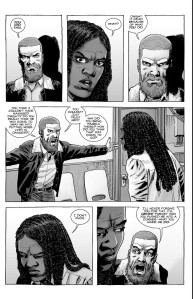 The Walking Dead #186- Rick blames Michonne for Dwight's death