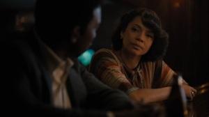 Kiss Tomorrow Goodbye- Amelia chats with Wayne at the bar- HBO, True Detective