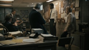 Kiss Tomorrow Goodbye- Roland and Wayne present their findings to the other officers- HBO, True Detective