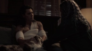 meMento- John awakens and tells Clarice that he's afraid of losing people that he loves- The Gifted, Fox, X-Men