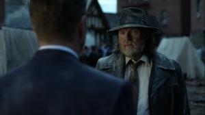 Ruin- Harvey brings Jim his burned badge from the wreckage- Fox, Gotham