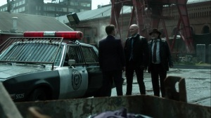 Ruin- Jim tells Harvey to give Zsasz his gun- Fox, Gotham