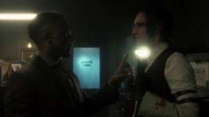 Ruin- Lucius Fox wants Riddler's help in solving the Haven bombing- Fox, Gotham