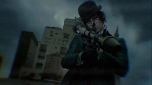 Ruin- Riddler aims a rocket at Haven- Fox, Gotham