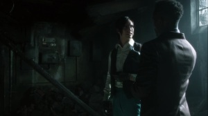 Ruin- Riddler and Lucius determine what could've caused the explosion at Haven- Fox, Gotham