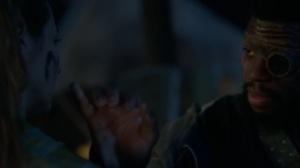 teMpted- Erg marks Caitlin's face with an M- Fox, X-Men, The Gifted