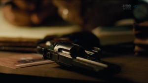 The Big Never- Gun on Wayne's desk in 2015- HBO, True Detective