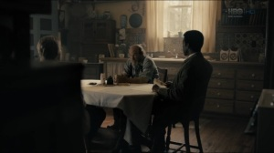 The Big Never- Roland and Wayne talk with a person of interest about the Purcell case- HBO, True Detective