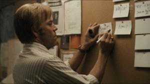 The Big Never- Roland puts a note on the board- HBO, True Detective