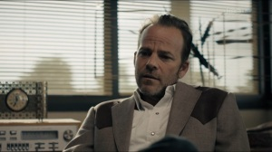 The Big Never- Roland tells Alan and Jim that he hasn't seen Wayne that much anymore- HBO, True Detective